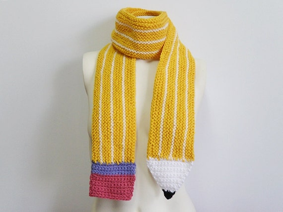 Knitting Pattern For Pencil Scarf : Knit / Pencil Scarf