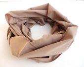 Beige Scarf Handmade Women Infinity Scarf Cotton Scarf Shawl Scarf Circle Scarves Womens Fashion Accessories Valentines Day Gifts For Her