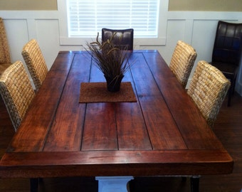 Harvest Table   Dining Table   Farmhouse Table Oak - shipping included