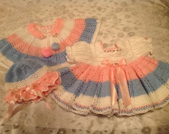 Spring Pastel Dress - Size 6-9 Months
