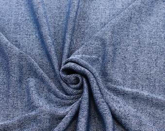 Blue 2 Tone Color Sweater Knit Fabric  - 1 Yard Style 6319