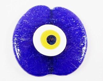 Extra Large Navy Blue Evil Eye Nazar Glass Bead - Traditional Turkish Artisan Handmade