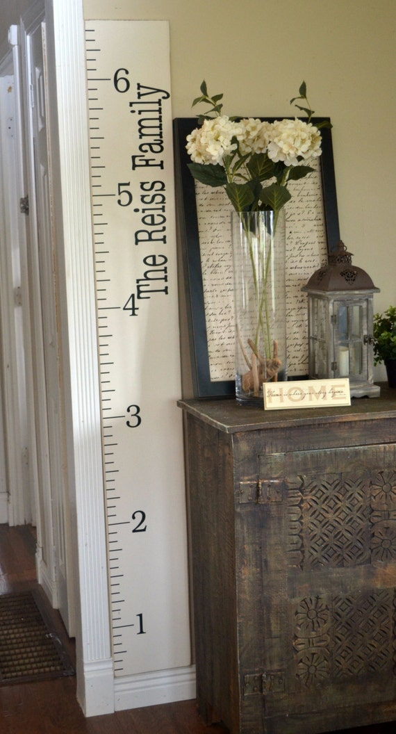 Custom Growth Chart, Growth Chart Ruler Vinyl Decal, Child Growth Chart