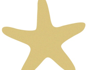 STARFISH Unfinished Wooden Craft Shape, Do-It-Yourself