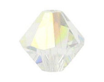 200 Swarovski 4mm Crystal AB Bicones 5328-4CLab-200