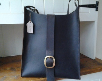 Dark brown leather bag  -available in any colour
