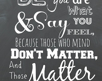 Dr. Seuss Quote Chalkboard Printable