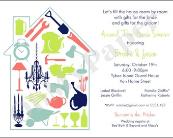 ANY COLOR Around the House Invitations