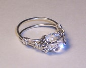 Purity Ring, Swarovski Crystal Ring, Sweet Sixteen Gift,  Sterling Silver Handcrafted