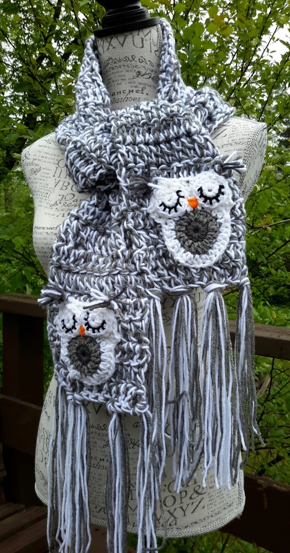 Free Crochet Pattern For Owl Scarf Legitefo For