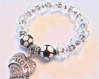 """MOM Bracelet """" Soccer MOM """" Showing the spirit."""