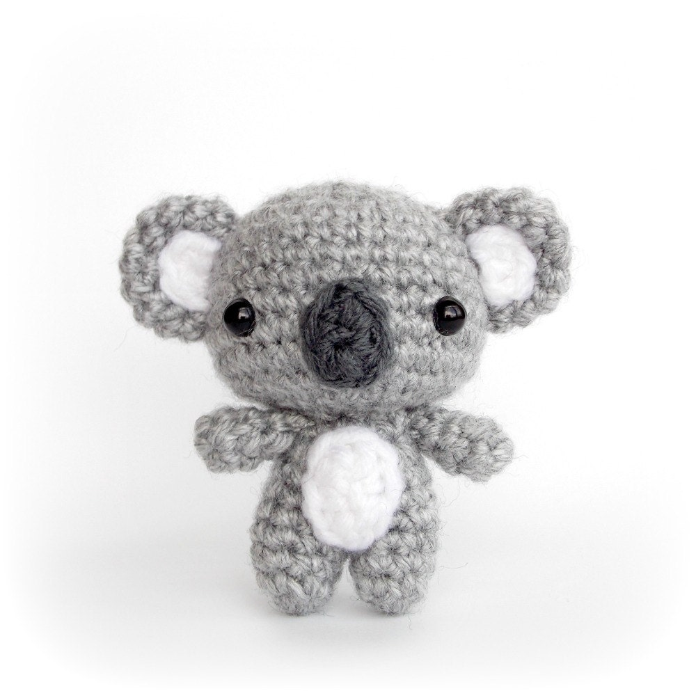 Crochet Pattern Koala Bear : Amigurumi Cutie Koala Bear Crochet Animal Plush by AmiAmore