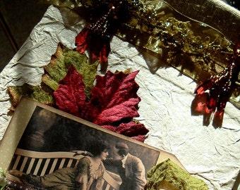 Guest Book, Autumn, Journals, 9 x 6, Hand Bound Books, Susan Kay, Whimsical Art
