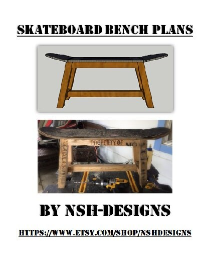 skateboard bench plans very simple and fun by nshdesigns