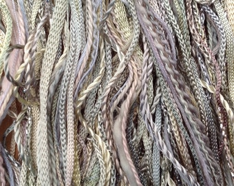 One Off, No.22 Silver Birch, Hand Dyed Cotton and Viscose Thread Selection