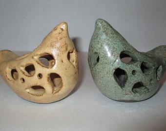 Ceramic bird tea candle holder