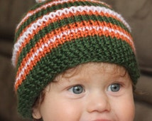 University of Miami Baby Beanie for newborn to 10 year old