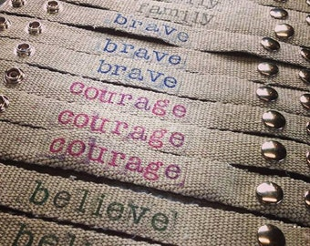Fire Hose Bracelet  Custom Words/Sayings