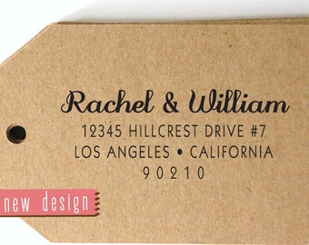 CUSTOM address STAMP from USA, pre inked stamp, Wedding Stamp, rsvp stamp, return address stamp with proof - Custom Address Stamp b5-67
