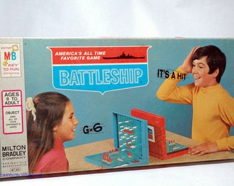 Battleship Naval Action Game from Milton Bradley 1971 COMPLETE (read description)