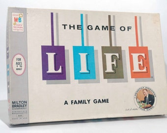The Game of Life from Milton Bradley 1960 (read description)