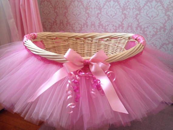 tutu basket tutu gift basket tutu baby shower basket wedding basket