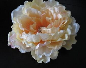 Peony Wedding Flower Clip Fascinator  Wedding Hair Clip Wedding Accessory Bridal Accessory Sik Flower