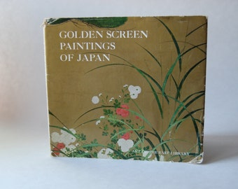 Vintage Book, Golden Screen Paintings of Japan