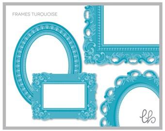 Ornate Frames Turquoise