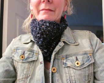 SALE! Merino Wool Cowl with Bling