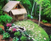 DIY plans on how to build your own Tiki Hut with loft