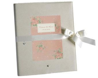 romantic wedding guestbook folder