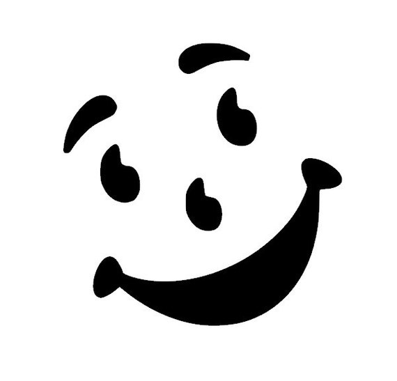 Kool aid face vinyl decal sticker by thevinylsweatshop on etsy for Kool aid man coloring pages