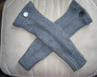 Upcycled, Recycled, Repurposed, Refashioned Steampunk Leg Warmers Gray One-Of-A-Kind