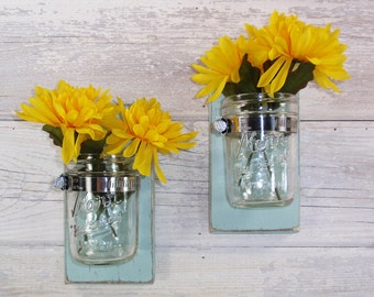 Sale- Cottage Chic- Wall Flower Vases-Farm House Chic- Cottage- French Chic- Shabby- Country Decor- Choose From Many Colors