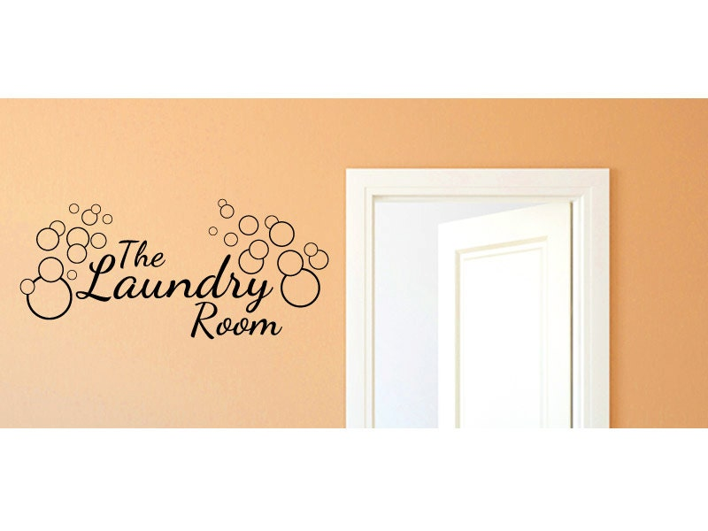 Laundry Room Wall Decor Stickers : Laundry room vinyl wall decal graphics home decor by