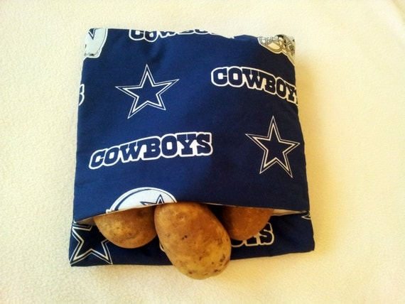 Dallas Cowboys Microwave Baked Potato Bag