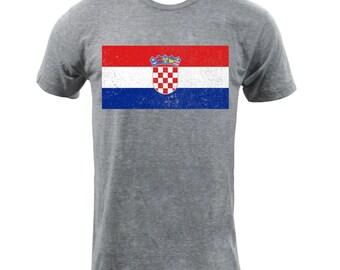 Flag of Croatia - Athletic Grey