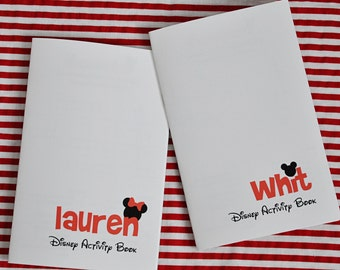 Disney Activity Book Personalized - Great for Disney Vacations!