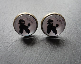 Stud earring poodle