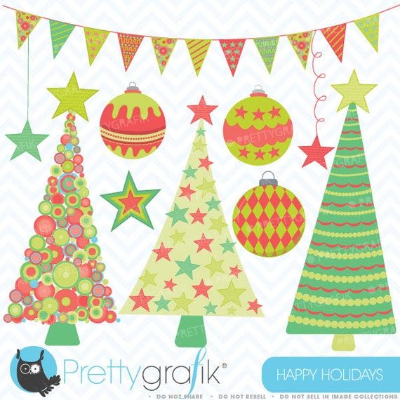 80% OFF SALE Holiday christmas clipart, commercial use, vector graphics, digital clip art, digital images - CL399
