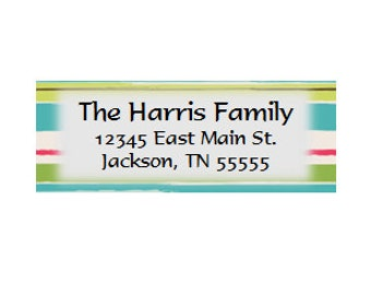 Sunny Stripe Return Address Labels