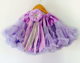 Sofia The First Inspired Full and fluffy Chiffon Pettiskirt