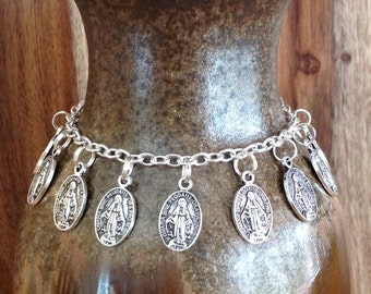 "the ""miraculous medal"" charm bracelet"