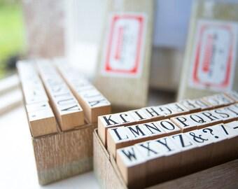 Superbe Wooden Alphabet Rubber Stamp Set Medium, Capital Letter Stamps Crafting,  Scrapbooking, Cardmaking,