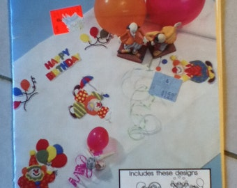Purr-fect Patterns For Punch Embroidery, Circus Birthday