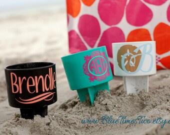 Personalized Beach Cup Holder - Beach Spiker - Sand Spike - Drink Holder