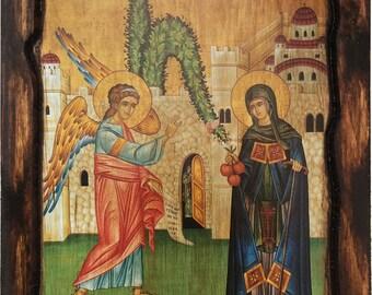 Saint St. Irene - Chrysovalantou - Orthodox Byzantine icon on wood handmade