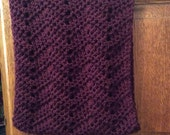 Crocheted Cashmere and Merino Wool Wine colored Infinity Scarf/Cowl
