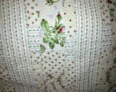 OOAK quilt, pink roses and polka dots, cottage chic